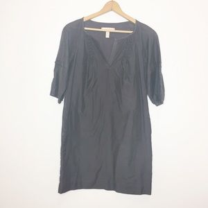 Banana Republic gray silk blend shift dress size 4